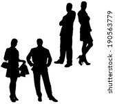 vector silhouette of a couple... | Shutterstock .eps vector #190563779