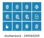 fingerprint icons on blue...