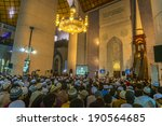 Small photo of SELANGOR, MALAYSIA - APRIL 26, 2014 : Muslim listening to the Sermon by Ustaz Adzhar Idrus after maghrib prayers at Shah Alam mosque. He is a famous preacher in Malaysia.
