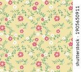 seamless small cute floral...   Shutterstock . vector #1905650911