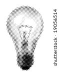 halftone light bulb | Shutterstock .eps vector #19056514