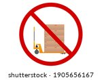 do not use hydraulic trolley.... | Shutterstock .eps vector #1905656167