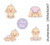 baby shower background...   Shutterstock .eps vector #1905656347