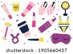 collection of skincare routine...   Shutterstock .eps vector #1905660457