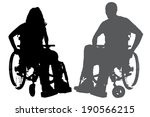 vector silhouettes of people in ... | Shutterstock .eps vector #190566215