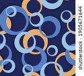 circle rings modern geometric... | Shutterstock .eps vector #1905671644