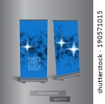 roll up banner display  vector | Shutterstock .eps vector #190571015