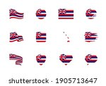 hawaii   flat collection of us... | Shutterstock .eps vector #1905713647