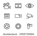 simple set of icons of...