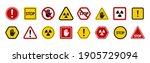 set of prohibition sign. set of ... | Shutterstock .eps vector #1905729094