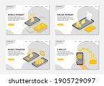 mobile payment landing pages.... | Shutterstock .eps vector #1905729097