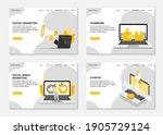 digital marketing landing pages.... | Shutterstock .eps vector #1905729124