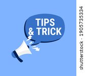 tips and trick megaphone vector ...   Shutterstock .eps vector #1905735334