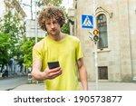 man walking on red light on... | Shutterstock . vector #190573877