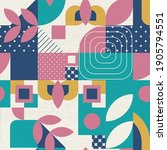 geometric pattern with various ... | Shutterstock . vector #1905794551