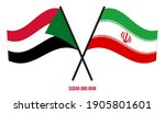sudan and iran flags crossed... | Shutterstock .eps vector #1905801601