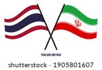 thailand and iran flags crossed ... | Shutterstock .eps vector #1905801607