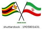 zimbabwe and iran flags crossed ... | Shutterstock .eps vector #1905801631