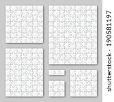 puzzle set   white   6 puzzles | Shutterstock .eps vector #190581197