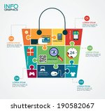e commerce infographic template ... | Shutterstock .eps vector #190582067
