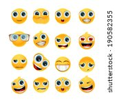 collection of glossy emoticons... | Shutterstock .eps vector #190582355