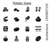 potato icon set vector... | Shutterstock .eps vector #1905837154