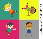 an illustration of little kids  | Shutterstock .eps vector #190584191