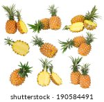 collection of fresh pineapple... | Shutterstock . vector #190584491