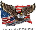american eagle with usa flags | Shutterstock .eps vector #1905865831