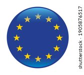 the round flag of the european... | Shutterstock .eps vector #1905876517