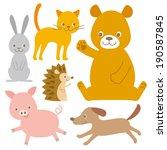 animals | Shutterstock .eps vector #190587845