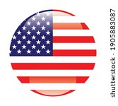 the round american flag. star... | Shutterstock .eps vector #1905883087