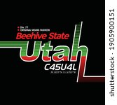 Utah casual.Vintage and typography design in vector illustration.Clothing,t-shirt,apparel and other uses.Eps10