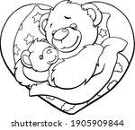 black and white outline  family ... | Shutterstock .eps vector #1905909844