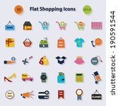 shopping icons for web and... | Shutterstock .eps vector #190591544