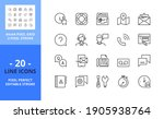 line icons about contact and... | Shutterstock .eps vector #1905938764