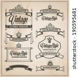 calligraphic design elements.... | Shutterstock .eps vector #190595681