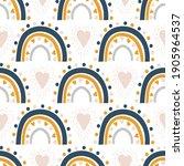 cute kids nursery rainbow...   Shutterstock .eps vector #1905964537