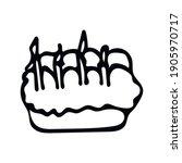 hand drawn valentine day cake... | Shutterstock .eps vector #1905970717