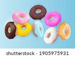 realistic 3d sweet tasty donut... | Shutterstock .eps vector #1905975931