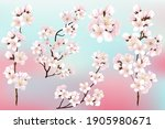 set of branches of blooming...   Shutterstock .eps vector #1905980671