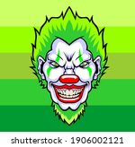 Evil Cartoon Clown Illustration....