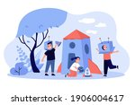 kids playing astronauts and...   Shutterstock .eps vector #1906004617