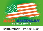 irish american heritage month....   Shutterstock .eps vector #1906011604