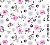 bouquet flowers pattern with...   Shutterstock .eps vector #1906020124