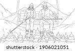 vector illustration  a married... | Shutterstock .eps vector #1906021051