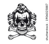 Psychopath Clown Emblem Design. ...