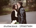 portrait of affectionate couple ...   Shutterstock . vector #190607684