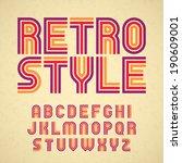 retro style alphabet. vector.