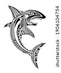 shark fish maori polynesian... | Shutterstock .eps vector #1906104754